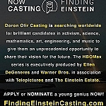 Worldwide Casting Has Begun for HBOMax: FINDING EINSTEIN