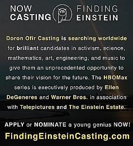 Worldwide Casting Has Begun for HBOMax: FINDING EINSTEIN