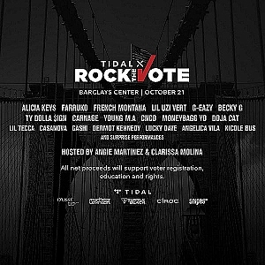 Watch TIDAL X Rock The Vote with Performances from Alicia Keys, Farruko, Lil Uzi Vert & More Tonight