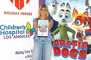 "Heidi Klum Brings Entertainment Studios' ""Arctic Dogs"" Movie Preview to Children's Hospital Los Angeles With Partner Holiday Heroes - in Theaters November 1st"