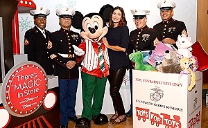 Actress and Singer/Songwriter Mandy Moore Kicks off shopDisney.com|Disney store - Toys for Tots Holiday Toy Drive
