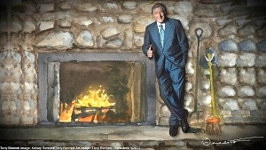 """Tony Bennett's Holiday Yule Log"""" Lights Up YouTube; Animated Yule Log Video Features Bennett's Holiday Recordings and Original Artwork"""