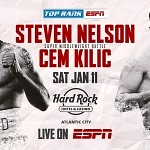 January 11: Steven Nelson-Cem Kilic Set for Hart-Smith Jr. Co-Feature Live on ESPN