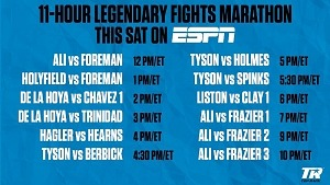 Muhammad Ali-Joe Frazier Trilogy Headlines Special Encore Boxing Presentation on ESPN