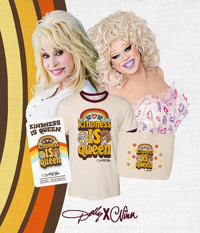 """Nina West And Dolly Parton Team Up For """"Dolly X Nina: Kindness Is Queen"""" Collection"""