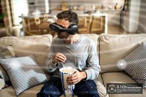 Cinera Edge, an Immersive 5K Personal Movie Theater Headset with Dolby Digital Surround Sound, Launches on Kickstarter
