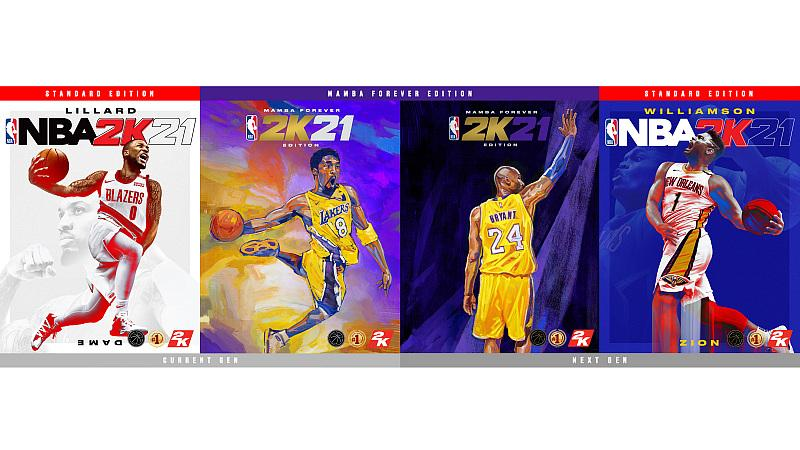 Everything is Game: Damian Lillard, Zion Williamson and Kobe Bryant are the Cover Athletes for NBA 2K21