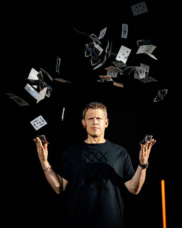 World-Famous Magician and Card-Thrower Rick Smith Jr. Teams Up with Dude Perfect for Second Card Throwing Trick Shots Video