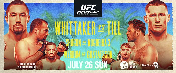 Pivotal Middleweight Bout Between No. 1 Robert Whittaker and No. 5 Darren Till Headlines Final UFC Fight Island Card