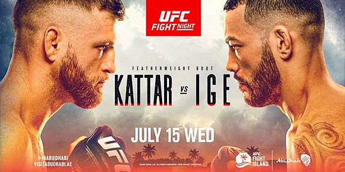 Action Continues on UFC Fight Island July 15 as Top Featherweight Contenders (#6) Calvin Kattar and (#10) Dan Ige Look to Make a Statement