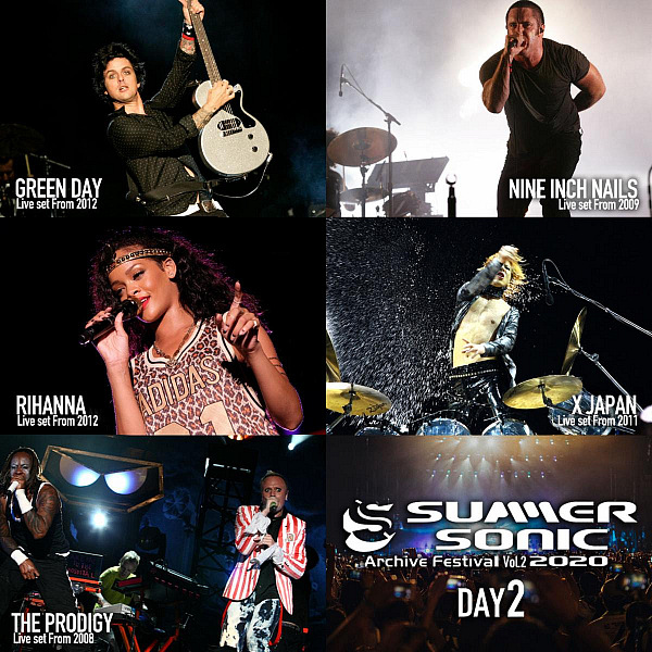 Summer Sonic 2020 Festival to Stream Legendary Archive Live Performances From Green Day, Rihanna, Nine Inch Nails, the Prodigy And, X JAPAN
