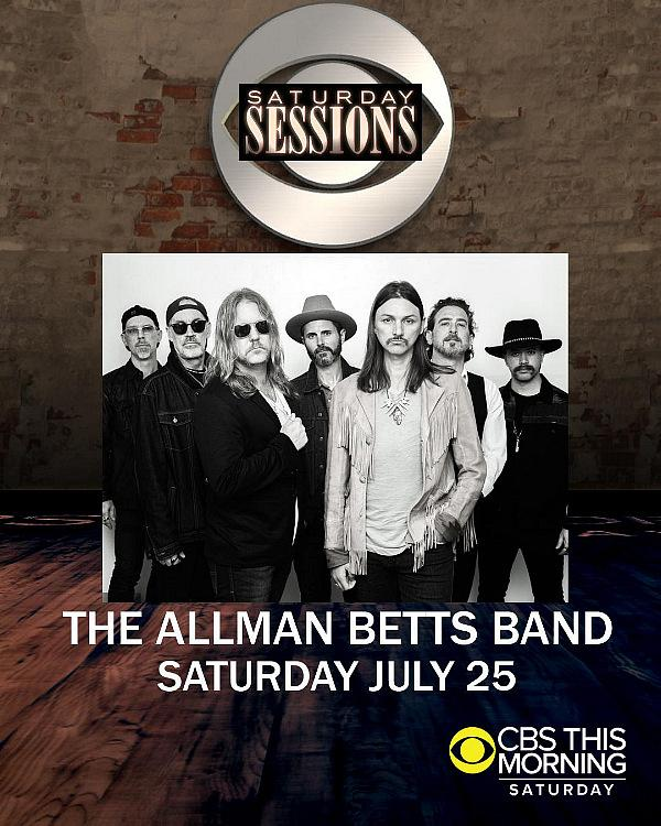 "The Allman Betts Band Release New Single ""Pale Horse Rider;"" ABB to Make National TV Debut on CBS ""Saturday Sessions"" July 25"
