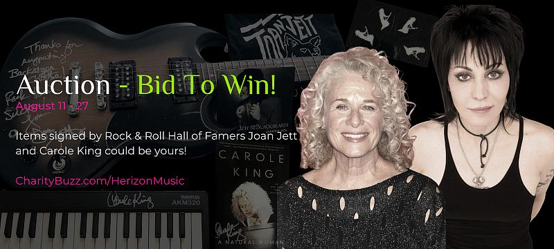 Joan Jett and Carole King Support Herizon Music Foundation's Programs for Young Women In Music