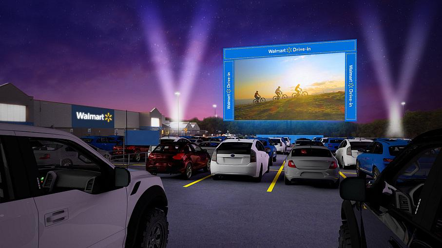Walmart Brings the Big Screen to Its Parking Lots Starting August 14