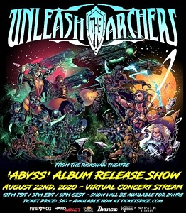 """Unleash the Archers to Stream """"Abyss"""" Virtual Album Release Show August 22"""