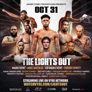"""Legendary Boxer James Toney and Vyre Sports Present: """"Boxing With Lights Out"""" Streaming Live on Vyre Network October 31st, 2020"""