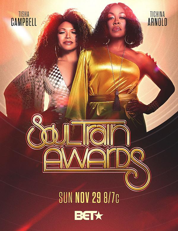 "Tisha Campbell & Tichina Arnold Return as Third Time Hosts of the ""2020 SOUL TRAIN AWARDS"" Presented by BET Airing November 29"
