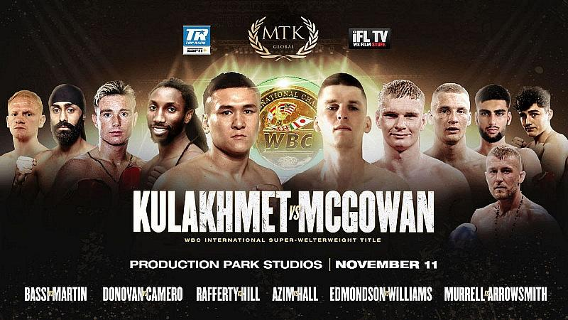 Tursynbay Kulakhmet-Macaulay McGowan Junior Middleweight Showdown to Headline Afternoon of Boxing LIVE and Exclusively on ESPN+ Nov. 11