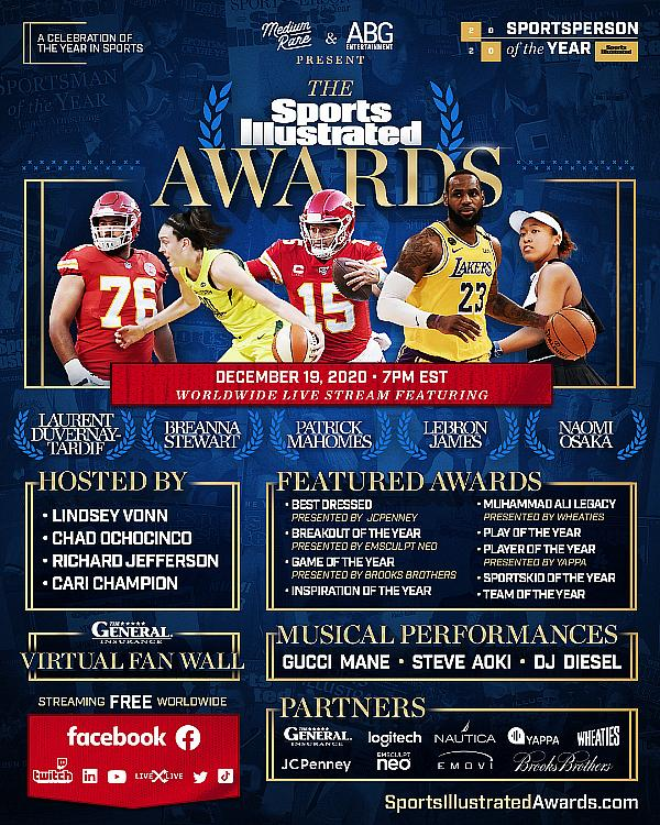 Sports Illustrated Launches 'The Sports Illustrated Awards' Broadcasting Live on December 19