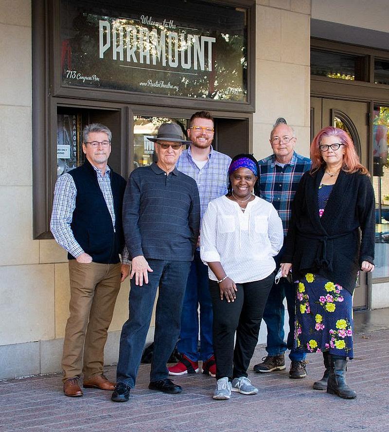 The Ruthie Foster Paramount Project Recording Team Left: Mason Harlow, Malcolm Harper, Nick Landis, Ruthie Foster, Greg Klinginsmith, Jennifer Salem