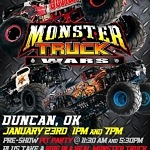 Monster Truck Wars to Entertain All Ages in Duncan This January
