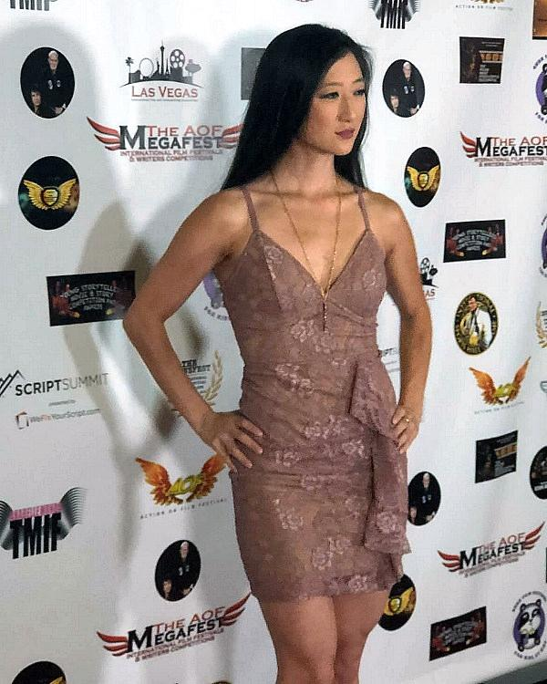 Writer/Director Jennifer Zhang on the Red Carpet at the Action of Film Festival