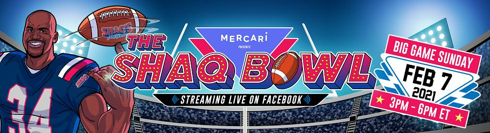 """Shaquille O'Neal to Host """"Mercari Presents The SHAQ Bowl"""" - The Ultimate Big Game Kickoff Show Live From Tampa on Feb. 7"""